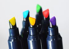 Free Colourful Pen Tips Stock Images - 4633214