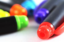 Free Random Colour Pens Stock Images - 4633274