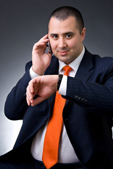 Free Business Man On The Phone Stock Photo - 4633390