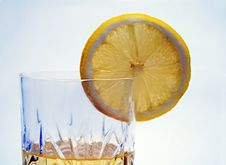 Free Lemon Slice On The Glass Royalty Free Stock Images - 4634079