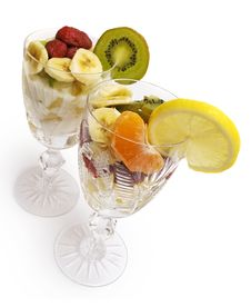 Free Fruits Salad In The Cups Stock Images - 4634174