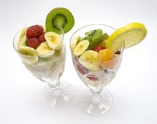 Free Fruits Salad In The Cups Royalty Free Stock Photos - 4634218