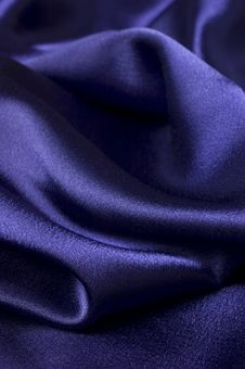 Free Deep Blue Silk Cloth Detail Royalty Free Stock Photography - 4636407