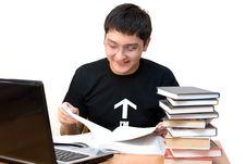 Free Student On Reading Stock Image - 4636441