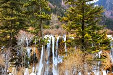 Free Frozen Waterfall In The Forest Stock Photo - 4636960