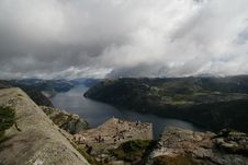 View On The Lysefjord, Norway Stock Photos