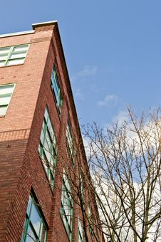 Brick Office Building In Seattle Stock Photography