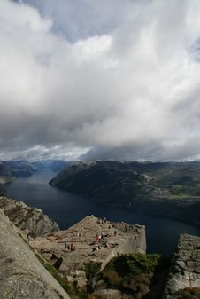 View On The Lysefjord, Norway Stock Photo