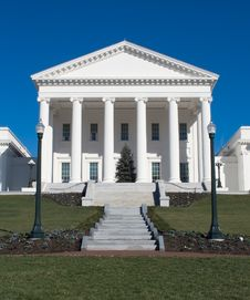 Free Christmas At The Virginia Capitol Stock Images - 4639134