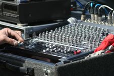 Free Audio Mixer Royalty Free Stock Photography - 4639187
