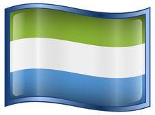 Free Sierra Leone Flag Icon Royalty Free Stock Photo - 4639265