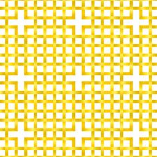 Interlaced Golden Pattern Royalty Free Stock Photography