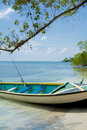 Free Tropical Beach With Boat Stock Images - 4640034