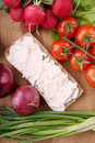 Free Roll With Cottage Cheese Stock Photos - 4647593