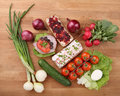 Free Vegetables And Sandwiches Royalty Free Stock Photos - 4647918