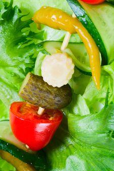 Free Vegetables On Skewer Royalty Free Stock Photo - 4640195