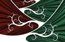 Free Red And Green Abstract Waves Stock Photos - 4641253
