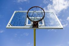 Free Basketball Net With Back Stock Photo - 4641420