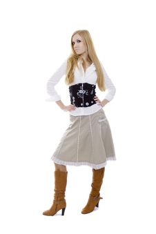 Free Cute Blonde In High Boots Royalty Free Stock Images - 4641539