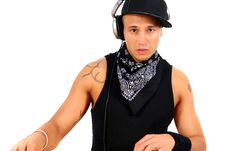Free Working Young Dj Stock Photography - 4641632