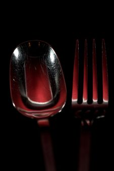 Free Red Spoon And Fork Royalty Free Stock Photos - 4642118