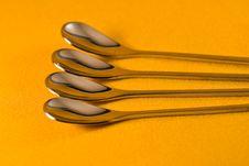 Free Tea Spoons Royalty Free Stock Photography - 4642177
