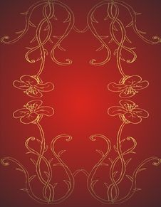 Free Golden Floral Frame Royalty Free Stock Photos - 4642348