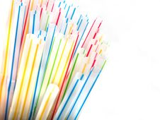 Colorful Straws In A Glass Stock Photography