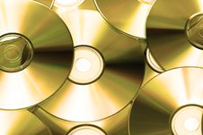 Cd Or DVD Romes For Background Royalty Free Stock Photography