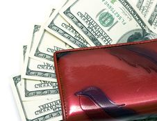 Free Leather Wallet With Dollars Stock Photo - 4643070
