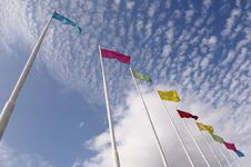 Free Colorful Flags Royalty Free Stock Photos - 4644148