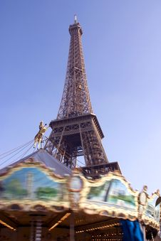 Free Eiffel Tower Merry Go Round Stock Photos - 4644253