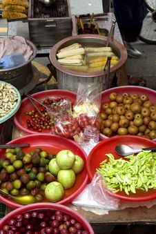 Chinese Street Ingredients Royalty Free Stock Image