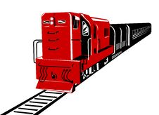 Free Train Red Diesel Stock Photo - 4644650