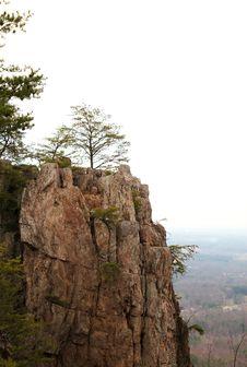 Free Mountain Cliff Ridge With Trees Royalty Free Stock Image - 4644696