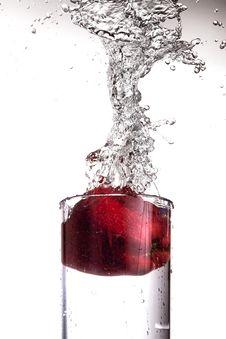 Free Apple Splashing In Glass Of Water Royalty Free Stock Image - 4644776