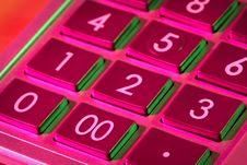 Keyboard Of Calculator Stock Image
