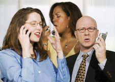 Free Three Businesspeople On Cell Phones Stock Images - 4645274