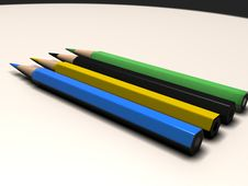 Free Four Pencils Royalty Free Stock Photography - 4645457
