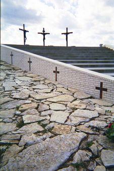 Free 3 Crosses Vertical Stock Photo - 4646490