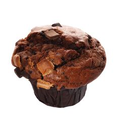 Free Single Triple Chocolate Muffin Isolated Stock Image - 4646541