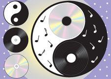 Vector Symbol Yang  And Yin - Royalty Free Stock Photo