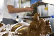 Free Making Chocolate Bunny In A Bakery Royalty Free Stock Image - 4647046