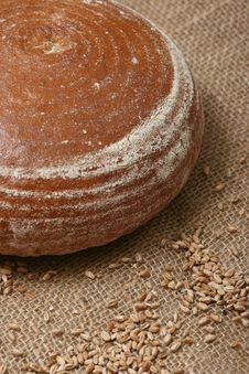 Wheat Grains And Bread Royalty Free Stock Photography