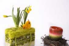 Free Basketry And Candle - Easter Royalty Free Stock Photos - 4648668