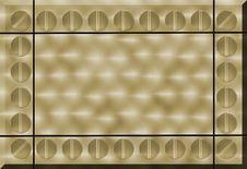 Free Hand Brushed Gold Metal Stock Image - 4648821