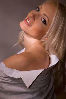 Beautiful Woman Studio Portrait Royalty Free Stock Image