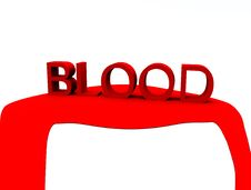 Free Blood Word 3 Royalty Free Stock Photo - 4649385