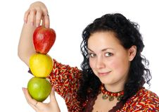 Free Three Apples Stock Images - 4649994