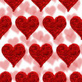 Free Valentine Card, Hearts Red Background Stock Photo - 4653750